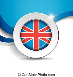 Vector flag button - United Kingdom