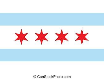 Vector flag chicago