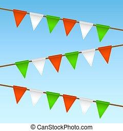 vector flag garland