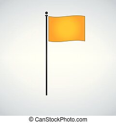 Vector Flag Icon, illustration isolated on modern background.