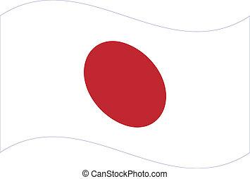 Vector flag. Japan
