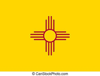 Vector flag New Mexico. Background United States State
