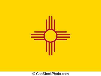 Vector flag New Mexico