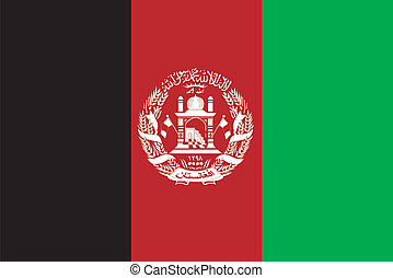 Vector flag of Afghanistan