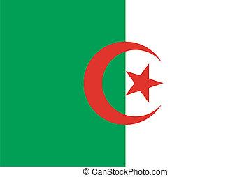 Vector flag of Algeria