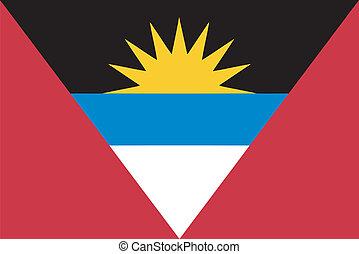 Vector flag of Antigua and Barbuda