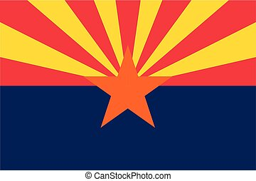 Vector flag of Arizona state, United States of America.