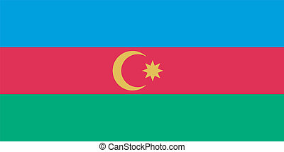Vector flag of Azerbaijan