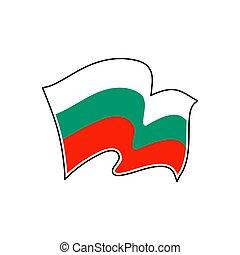 Bulgaria national flag. Vector illustration. Sofia - Vector...