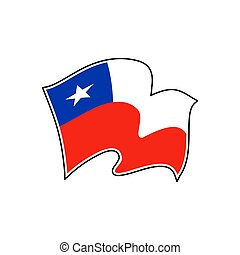 Vector flag of Chile