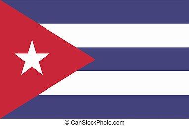 Vector flag of Cuba. Vector illustration