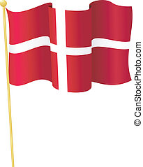 Vector Flag of Denmark