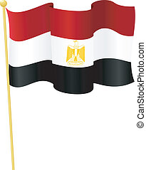 Vector Flag of Egypt