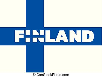 THE FLAG OF FINLAND. The combination of I and n is also stylized as a flag. Text based on kanit black licensed under the SIL Open Font License, Version 1.1.