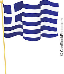 Vector Flag of Greece
