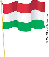 Vector Flag of Hungary