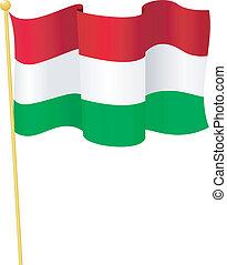 Vector Flag of Hungary