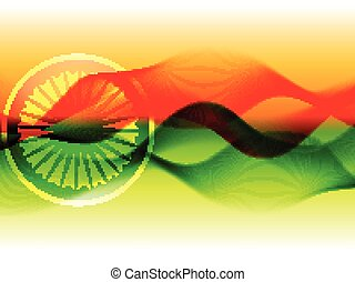 vector flag of india with wave flowing