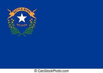 Vector flag of Nevada state. Las Vegas, Reno. United States of America.
