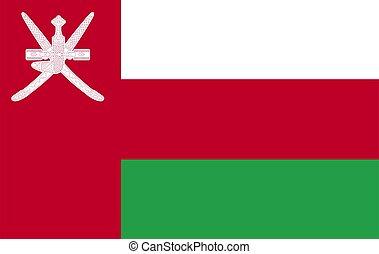 Vector Flag of Oman.