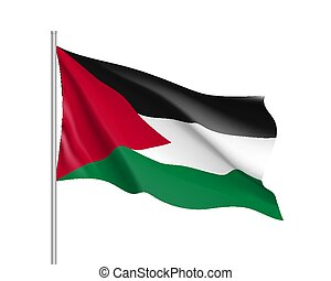 Vector flag of Palestine state.
