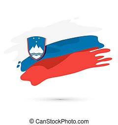 Vector Flag of Slovenia