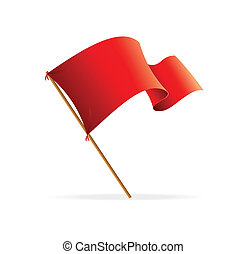 Vector flag red. Icons