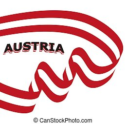 Vector flag ribbon of Austria. Template for Independence Day poster design.
