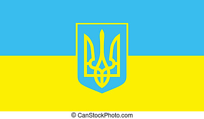 Vector flag. Ukraine