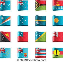 Vector flags. Oceania, part 12