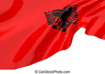Vector Flags of  Albania