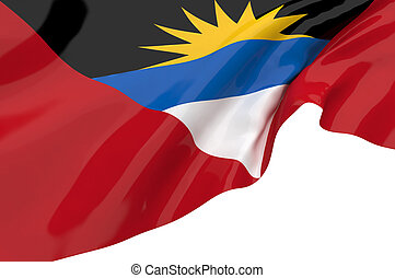Vector Flags of Antigua and Barbuda