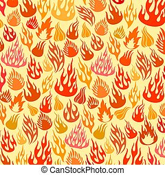 vector flames (fire) icons background