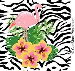 Vector Flamingo Tropical