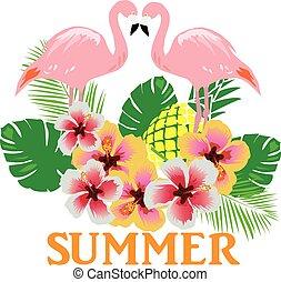 flamingos summer