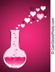 Vector flask - Vector illustration (Flask with love liquid)