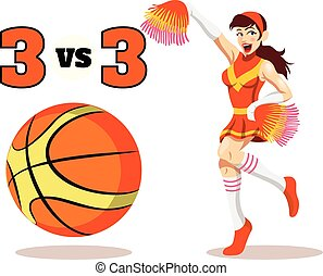 Vector flat basketball illustration