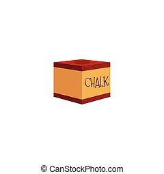 vector flat billiard cue stick red chalk block - vector flat...