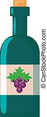 Vector Flat Bottle of Wine Icon
