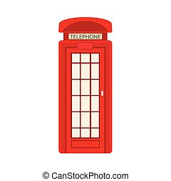 vector flat british red photo booth icon