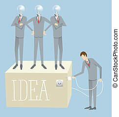 Vector Flat Business Concept - Idea research flat isometry...