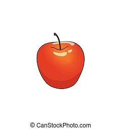 vector flat cartoon apple isolated
