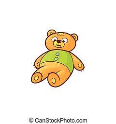 vector flat cartoon bear toy