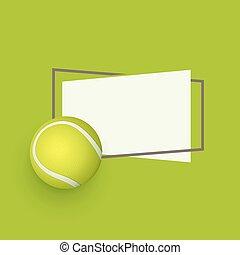 vector flat cartoon tennis ball banner - vector flat tennis...