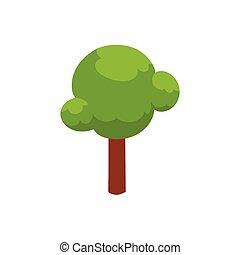 vector flat cartoon urban park tree