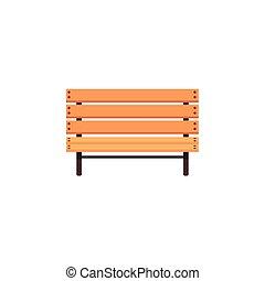 vector flat cartoon wooden bench isolated