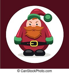 Vector flat character dwarf