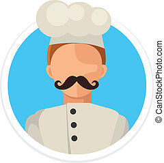 Vector Flat Chef Round Icon