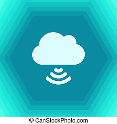 cloud with wifi icon