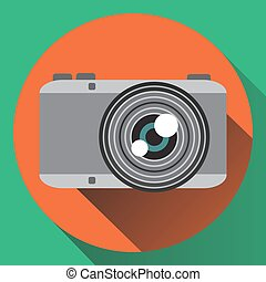Vector flat colors photo camera